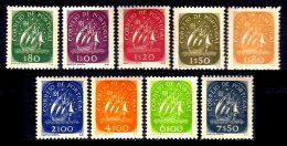 PORTUGAL, AF 696/704, Yv 707/15, * MLH, F/VF, Cat. € 455,00 - 1910-... République