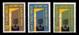 PORTUGAL, AF 851/53, Yv 861/63, * MLH, F/VF, Cat. € 3,50 - 1910-... République