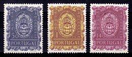 PORTUGAL, AF 858/60, Yv 870/72, * MLH, F/VF, Cat. € 6,50 - 1910-... République