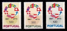 PORTUGAL, AF 1014/16, Yv 1024/26, * MLH, F/VF, Cat. € 9,50 - 1910-... République