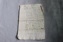 Lot De 4 Document XVIIème à Déterminer - Historische Documenten