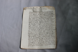 Acte Testament De 1709 Généralité De Dijon - Historische Documenten