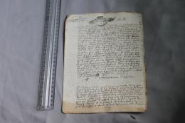 Acte Testament De 1714 Généralité De Dijon - Historische Documenten