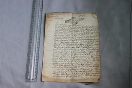 Acte Testament De 1712 Généralité De Dijon - Historische Documenten