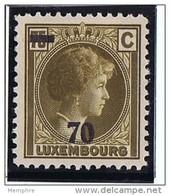 1935  Grande-Duchesse Charlotte De Profil   Surcharge 70 Sur 75 C.   * Charnière - Luxembourg