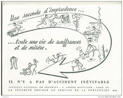 BUVARD NEUF SUPERBE    INSTITUT NATIONAL DE SECURITE N°52 - Banque & Assurance