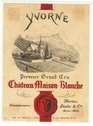 Rare // Yvorne,Château Maison Blanche 1942, Merian,Studer Rolle Vaud // Suisse - Etiquettes