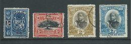 Tonga 1897 Definitives 4 Values To 2&1/2d George II FU - Tonga (...-1970)