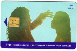 Polynese Francaise Telecarte Phonecard Publique PF32 Saint Valentin Amour Love Vahine Ut. TBE - Polynésie Française
