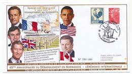 France - Enveloppe 65eme Anniversaire Du Débarquement - OHAMA Beach - St Laurent Sur Mer - 6 Juin 2009 - Guerre Mondiale (Seconde)