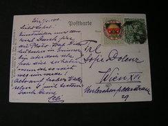 Dt.Schulveein Karte . Lieder Nr. 16 Karte 91 Nach Wien 1910 Vignette - Künstlerkarten
