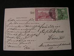 Dt. Schulverein Nach Wien Mit Wignette 1909 - Künstlerkarten