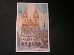 Prag , Tyn 1919 - Künstlerkarten
