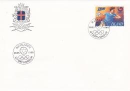 Iceland FDC 1988 Seoul Olympic Games  (SKO15-17) - Zomer 1988: Seoel