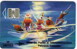 Polynese Francaise Telecarte Phonecard Publique PF12B Soleil Levant Peinture Kienlen 1993 Ut. BE - Polynésie Française
