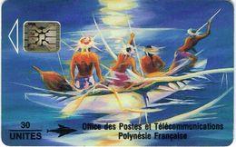 Polynese Francaise Telecarte Phonecard Publique PF12 SC4 Soleil Levant Peinture Kienlen 1993 Ut. BE - Polynésie Française