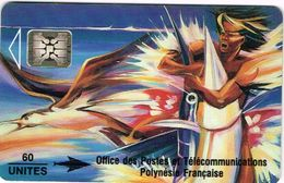 Polynese Francaise Telecarte Phonecard Publique PF13 SC4 Reve Espadon Oiseau Marlin Poisson Peinture Kienlen 1993 BE - Polynésie Française