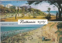 ISRAEL---RARE---NATHANIA--the Beach--strand Promenade--voir  2 Scans - Israel