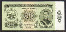 353-Mongolie Billet De 50 Tugrik 1966 AA142 - Mongolia