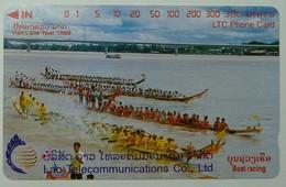 LAOS - Boat Racing At Vientiane - 300 Units - 1998 - Mint - Laos