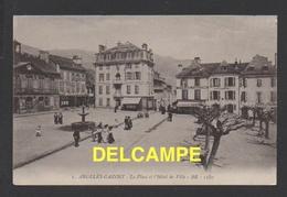 DF / 64 PYRÉNÉES-ATLANTIQUE / ARGELÈS-GAZOST / LA PLACE, L' HÔTEL DE VILLE . LA POSTE, L' ÉPICERIE PARISIENNE - Sonstige Gemeinden