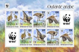 CHAD 2017 ** WWF Outarde Arabe Birds Vögel Oiseaux M/S II - OFFICIAL ISSUE - DH1736 - Birds