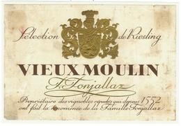 Rare // Vieux Moulin,Slection De Riesling  F. Fonjallaz Vaud // Suisse - Etiquettes