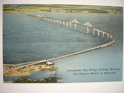 CPA USA - Etats-Unis D'Amérique - Delaware - Wilmington - Chesapeake Bay Bridge - Maryland - Colorisée - - Wilmington