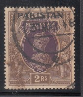 Pakistan  KG VI  2R  Small Pearl Variety  Used  D&I  15a  #  00932   Sd  Inde  Indien - Pakistan
