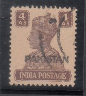 Pakistan  KG VI  4A  Peshawar  Machine Print  #  00930   Sd  Inde  Indien - Pakistan