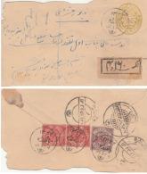 Hyderabad  1922 AD  1342 Hijri  8P  PS Envelope  Registered  Uprated Frankings   #  00682    D  Inde  Indian India - Hyderabad