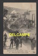 DD / 51 MARNE / AY-EN-CHAMPAGNE / REVOLUTION EN CHAMPAGNE AVRIL 1911 / RUINES DE LA MAISON AYOLA, INCENDIÉE / ANIMÉE - Ay En Champagne