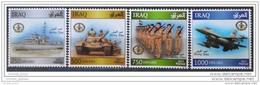 Iraq NEW 2015 Issue - Dated 2014 - Army Day Complete Set - Warplane Warcraft Tank Soldiers - MNH - Iraq