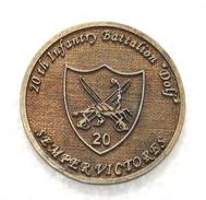 Romanian Military Coin - ISAF - 2011 - 20th Infantry Battalion DOLJ - Professionnels / De Société