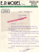 87 - LIMOGES- LETTRE E. & P. MOREL FRERES- ASSURANCES - 16 BOULEVARD CARNOT-1939 - Bank & Insurance