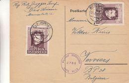 Autriche - Carte Postale De 1947 - Oblit Bad Aussee - Exp Vers Verviers - Avec Censure - 1945-60 Storia Postale