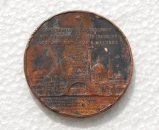 Médaille Souvenir De Mon Ascension Au Sommet De La Tour Eiffel 1889 - Tourist