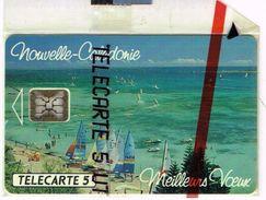 Nouvelle Caledonie Noumea Telecarte Phonecard Privee NC13A Meilleurs Voeux Plage Voilier NSB Neuve TBE RR - Nouvelle-Calédonie