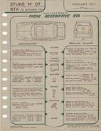 """Lot De 2 Fiches """" Revue Technique Automobile Peugeot 403 """" (RTA) 1ère Et 2ème Partie - Février 1956 Et Sep 1957 - Auto"""