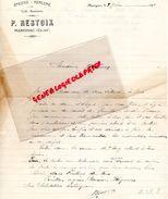 17 - MARIGNAC - LETTRE MANUSCRITE SIGNEE P. RESTOIX -EPICERIE MERCERIE- CAFE RESTAURANT- 1931 - Food