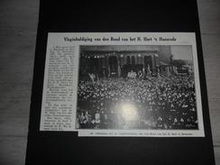 """Origineel Knipsel ( 251 ) Uit Tijdschrift """" Ons Volk Ontwaakt """" :  Vlaginhuldiging  Haesrode  Haasrode 1929 - Vieux Papiers"""