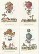 17 / 9 / 169  -   LOT  DE  5  CPM  ( Grands Modèies  )  De  Montgolfières - Balloons