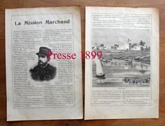 2 Scans Presse 1899 - La Mission Marchand - Expédition Afrique Fachoda Kitchener   211CH1 - Old Paper