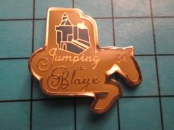 PIN2417 Pin's Pins / De Belle Qualité Et Rare THEME SPORTS / CHEVAL EQUITATION JUMPING DE BLAYE Pas Nathalie !!! - Other