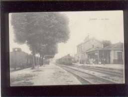 70 Jussey La Gare Pas D'éditeur Animée Train Chemin De Fer - France