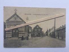"""WERCHTER """"ST Rochuskapel En De Plein """" Très Animées ,commerces, Chapelle Saint Rochus Et La Place . - Rotselaar"""