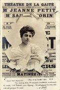 Advertising - Theatre De La Gaite. Girl,fashion.edition - S.I.P.Paris.Postcard Via 1902. Paris/Geneva - Pubblicitari