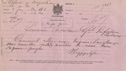"""NAPOLÉON Ville """"Pontivy"""" Morbihan Télégramme Pour Colmar - Telegraph And Telephone"""