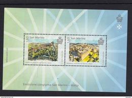 SAN MARINO 2015 MINIATURE SHEET. JOINT ISSUE SAN MARINO - MALTA - Unused Stamps