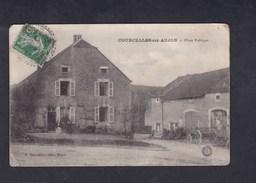 Courcelles Sur Aujon (52) La Place Publique ( Ed. Guyonnet) - France